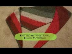Easy Beginner Garter Stitch Bias Shawl Video 1 of 2 - YouTube