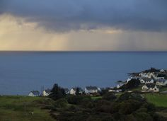 A rainy sunset over Gairloch