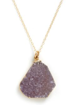 Geode to Beauty Necklace by Dara Ettinger - Purple, Gold, Solid, Chain, Multi, Party, Luxe, Statement ~Modcloth $62.99