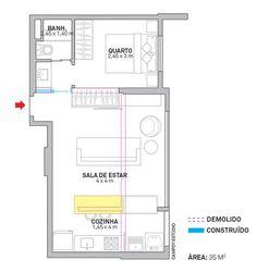 Revista Arquitetura e Construção - Boas soluções marcam cada canto do apê de 35 m²