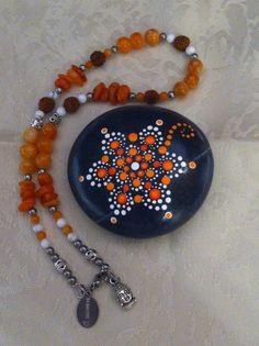Pierre mandala - Chakra Sacré avec Bracelet de méditation