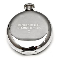 Stainless Steel Engraved Flask - 5 oz.