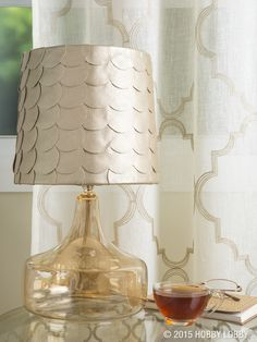 With just a few of your favorite have-arounds, self-adhesive lampshades (they come in all shapes and sizes) become one-of-a-kind, customized expressions.