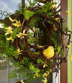 Canary Spring Wreath