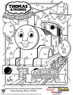 thomas the train birthday coloring pages - Thomas Friend Coloring Pages