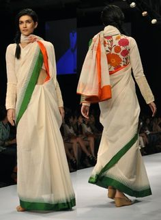 Latest trends in Beauty, Fashion, Indian outfit ideas, Wedding style on your mind? Indian Prints, Indian Textiles, Ethnic Outfits, Indian Outfits, Ethnic Clothes, Indian Attire, Indian Wear, Modern Saree, Patriotic Outfit