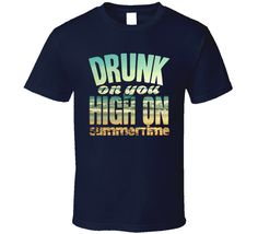 Luke Bryan Drunk On You High On Summertime Favorite Song Concert Fan T Shirt