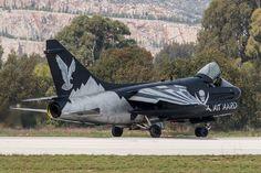 Corsair II 'End of an Era' (Hellenic Air Force) Military Aircraft, Navy Aircraft, Hellenic Air Force, End Of An Era, Us Navy, Armed Forces, Fighter Jets, Aviation, Fire