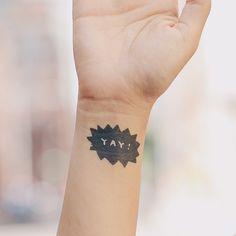 Yay burst from TATTLY!  Love a sassy fake tattoo!