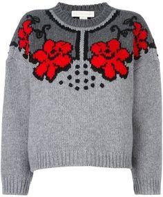 Stella McCartney jacquard floral design jumper