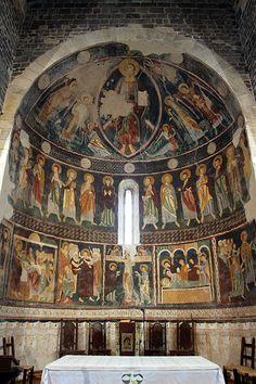 12th century frescoes in the Basilica di Saccargia in Codrongianos