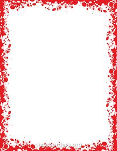 Printable blood border. Use the border in Microsoft Word or other programs for creating flyers, invitations, and other printables. Free GIF, JPG, PDF, and PNG downloads at http://pageborders.org/download/blood-border/