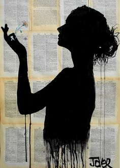 Saatchi Online Artist: Loui Jover; Pen and Ink, Drawing the flower