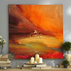Abstract Art Diy, Abstract Painting Acrylic, Abstract Painting, Abstract Wall Art, Cool Art, Abstract, Diy Art, Orange Painting, Canvas Painting