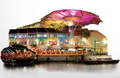 Atraksi: tempat yang pas buat menikmati atraksi di Singapore. mulai dari boat, giant swing, fountain. #SGTravelBuddy