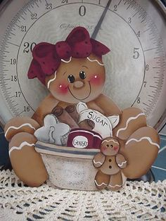 HP~~Gingerbread with Mixing Bowl ~~ FRIDGE Magnet