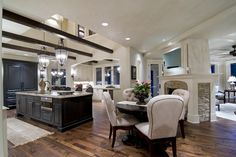 Traditional Kitchen Design, Pictures, Remodel, Decor and Ideas. Open and modern. Beautiful Kitchens, Beautiful Homes, Design Page, Design Ideas, Plan Design, Tile Design, Sweet Home, Walnut Floors, Hardwood Floors