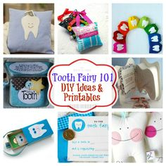 Tooth Fairy Ideas: DIY Crafts Printables, Pillows, Boxes and More!