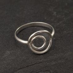 Sterling Silver Ring Silver Circle Ring Circle Duo Ring by Artulia, $38.00