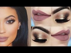 Kylie Jenner Makeup Tutorial - Maquiagem Chique com batom Hermione - YouTube