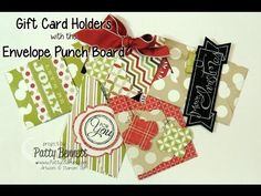 Stampin Up Envelope Punch Board Gift Card Holders