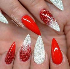 Gel Nail Designs You Should Try Out – Your Beautiful Nails Cute Acrylic Nails, Acrylic Nail Designs, Cute Nails, Nail Art Designs, Nails Design, Stiletto Nail Designs, Xmas Nails, Holiday Nails, Easy Christmas Nails