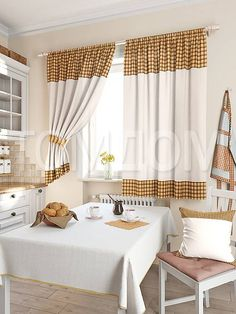 """Комплект штор """"Калифа (бежев.)"""": купить комплект штор в интернет-магазине ТОМДОМ #томдом #curtains #шторы #interior #дизайнинтерьера"""