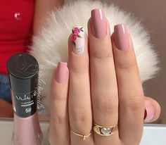 trendy Ideas for nails sencillas largas Light Pink Nail Designs, Light Pink Nails, Perfect Nails, Gorgeous Nails, Stylish Nails, Trendy Nails, Rose Nails, Gel Nails, Nail Polish