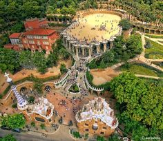 #ParkGuell from the sky! located in #barcelona, #spain