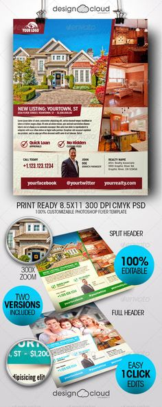 Travel / Vacation Flyer | Flyer Template, Print Templates And Fonts