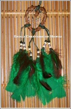 Green Vine Heart Dream Catchers - $15.00 - Handmade Speciality / Traditional, Crafts and Unique Gifts by Ekolu Creations of Hawaii