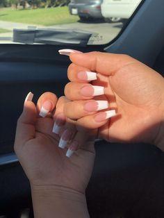 - white acrylic nails - # acrylic nails # white haircuts for every face . - – white acrylic nails – # Acrylic nails Haircuts for every face, make-up for every face - French Tip Acrylic Nails, White Tip Nails, White Acrylic Nails, Summer Acrylic Nails, Best Acrylic Nails, Long French Tip Nails, French Acrylics, Acrylic Summer Nails Coffin, Square Acrylic Nails