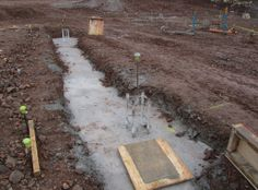 Concrete foundations and steel reinforcement to the new building #HarrisAcademyDundee
