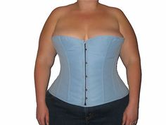 Black Butter Soft Leather Overbust Corset Waist 42 in Size 22-26 Steampunk!