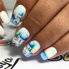 Winter Nails, Summer Nails, Sea Nails, Diy Acrylic Nails, City Nails, New Nail Designs, Latest Nail Art, Cute Art, Manicure