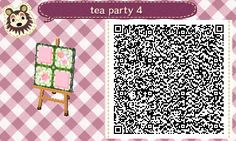 Animal Crossing: New Leaf & HHD QR Code Paths  Tea Party #4 of 4<--