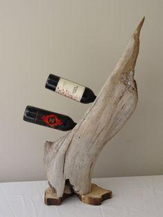 Driftwood Wine Rack on Etsy, $139.00