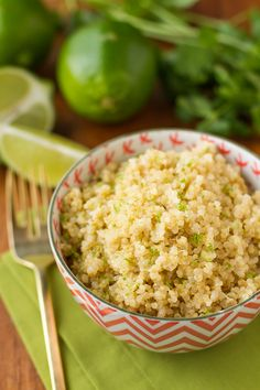 Coconut Lime Quinoa -- 3 ingredients and insanely easy prep (use your rice cooker!) make this delicious quinoa recipe a go-to weeknight side dish. Total winner!   via @unsophisticook on unsophisticook.com