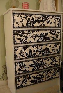 great idea for a furniture facelift