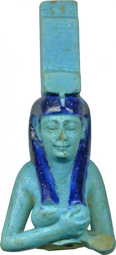An ancient Egyptian depiction of the mother goddess Isis, BC, who is identified by her symbolic, throne-shaped headdress, the hieroglyphic form of her name. Egyptian Isis, Egyptian Mythology, Ancient Egyptian Art, Egyptian Goddess, Ancient Aliens, Ancient History, Ancient Goddesses, Gods And Goddesses, Luxor