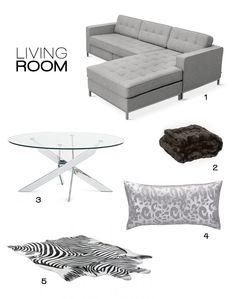 Modern Living Room Moodboard