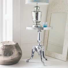 Aluminium Side Table - View All Furniture - Furniture Furniture, Interior Inspiration, Table Furniture, Aluminum Siding, Side Table, Luxury Homes, Table, Luxury House Designs, Open Plan Living