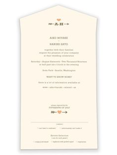 """""""Love Struck"""" - Customizable All-in-one Wedding Invitations in Orange by The Social Type. Best Advice Quotes, Bio Quotes, Best Love Quotes, Inspirational Quotes, Wedding Favor Tags, Vintage Wedding Invitations, Thankful Quotes For Him, My Girl Quotes, Confused Love Quotes"""