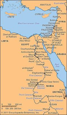 ancient Sites associated with Egypt from Predynastic to Byzantine times.