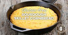 Gluten-free Sourdough Skillet Cornbread