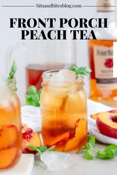 Iced Tea Cocktails, Easy Summer Cocktails, Bourbon Drinks, Sweet Tea Recipes, Iced Tea Recipes, Cocktail Recipes, Alcoholic Drinks To Make, Party Drinks Alcohol, Spiked Tea