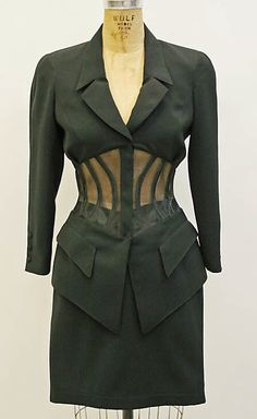 Thierry Mugler. 1996. Not exactly 'vintage' but a very classic feel!