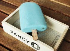 Fancy - Wooden Fancy Logo Popsicle by Johnny Hermann