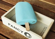 Limited edition wooden popsicle sculpture by Johnny Hermann...