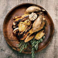Food & Wine's Garlic Grilled Chicken is the perfect grilling dish. Grilled Chicken Tacos, Grilled Chicken Recipes, Marinated Chicken, Wine Recipes, Cooking Recipes, Red Curry Chicken, Food & Wine Magazine, Lemon Garlic Chicken, Dried Figs